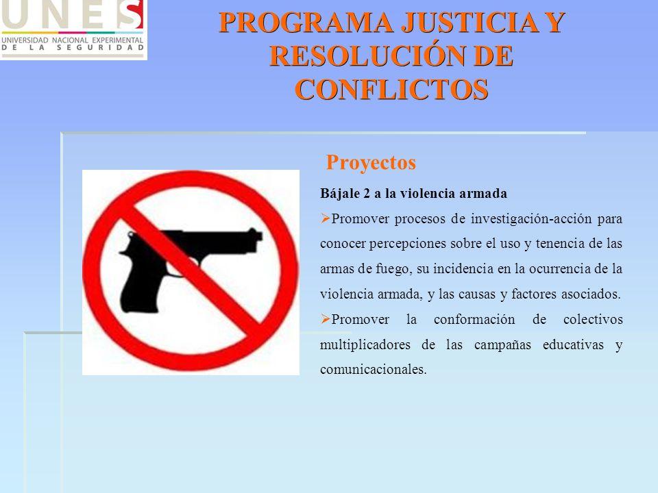 PROGRAMA JUSTICIA Y RESOLUCIÓN DE CONFLICTOS