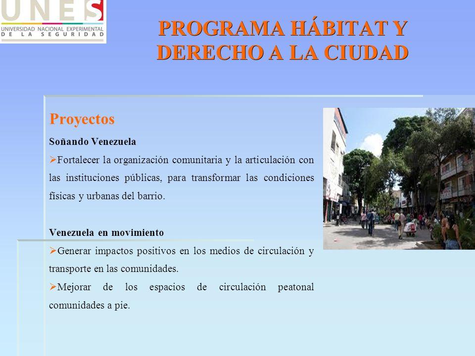 PROGRAMA HÁBITAT Y DERECHO A LA CIUDAD
