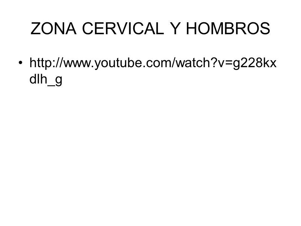 ZONA CERVICAL Y HOMBROS
