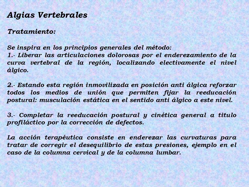 Algias Vertebrales Tratamiento: