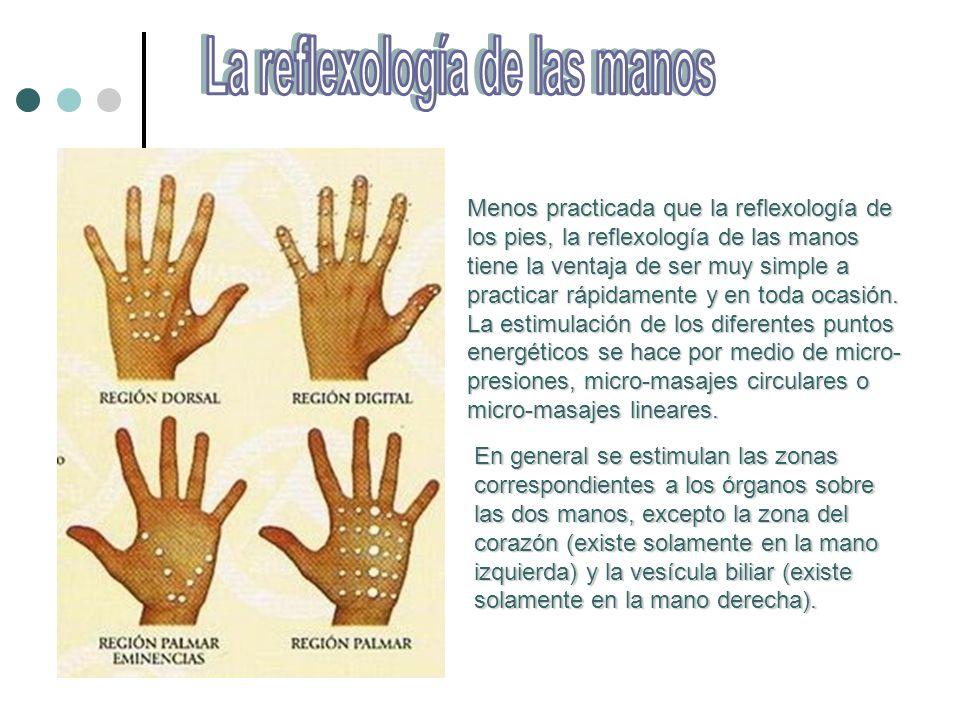 La reflexología de las manos
