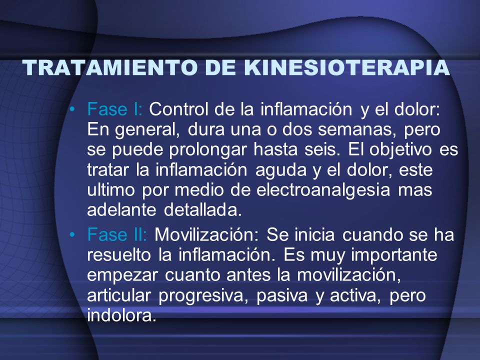 TRATAMIENTO DE KINESIOTERAPIA