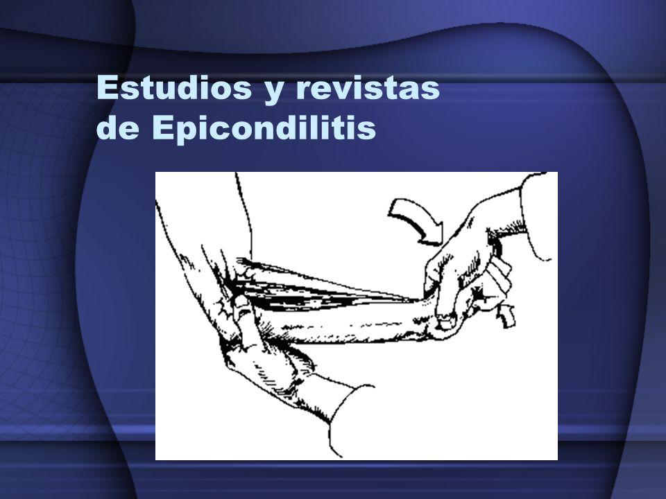Estudios y revistas de Epicondilitis