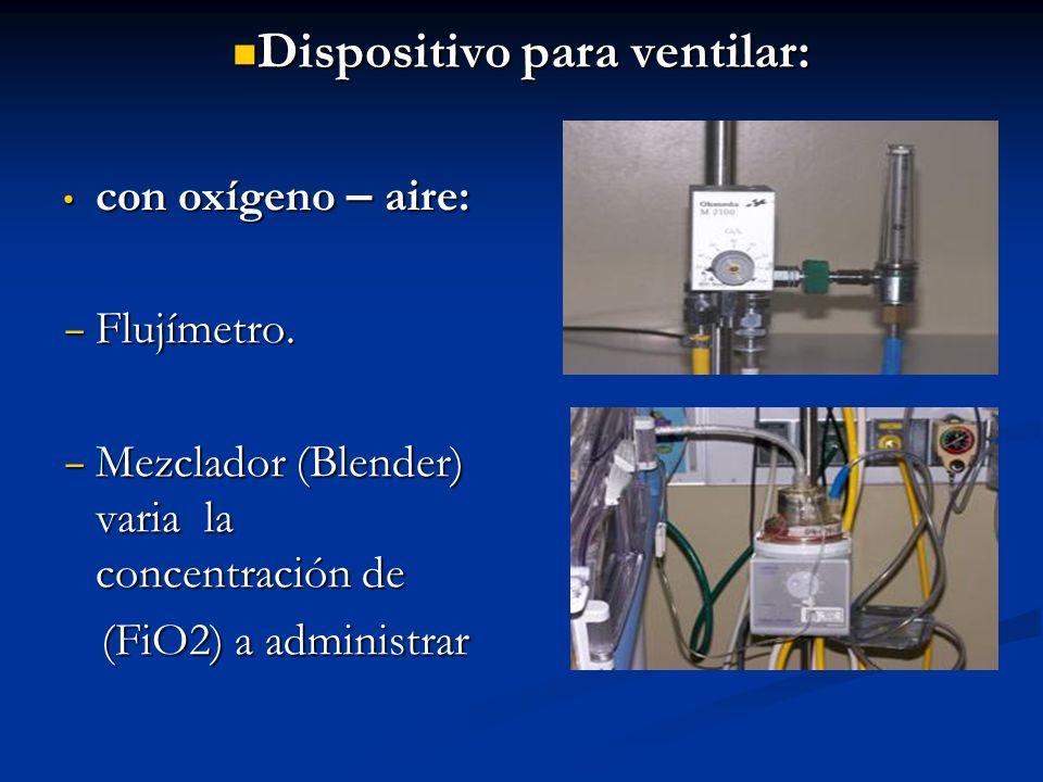 Dispositivo para ventilar: