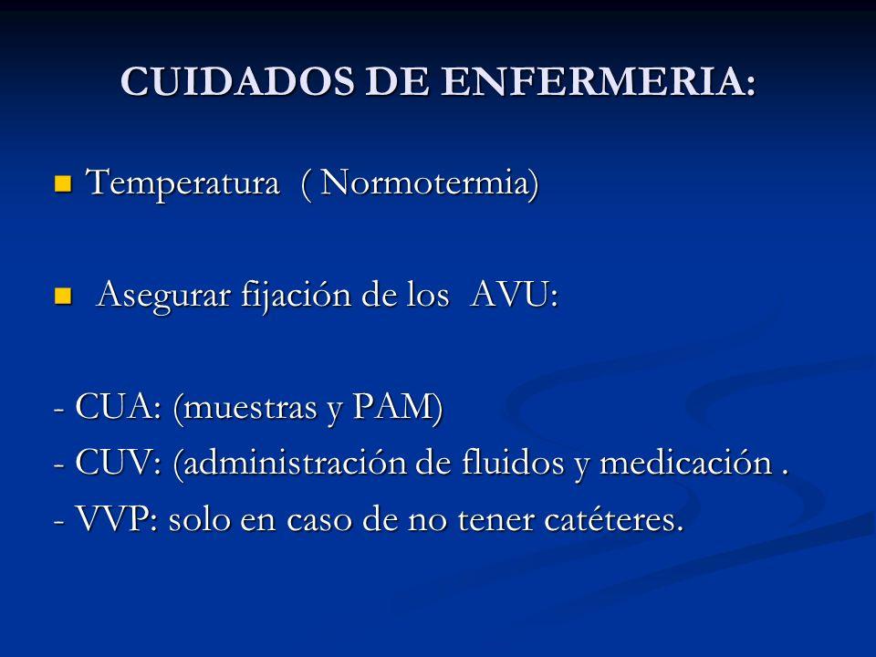 CUIDADOS DE ENFERMERIA: