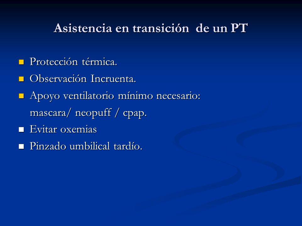 Asistencia en transición de un PT