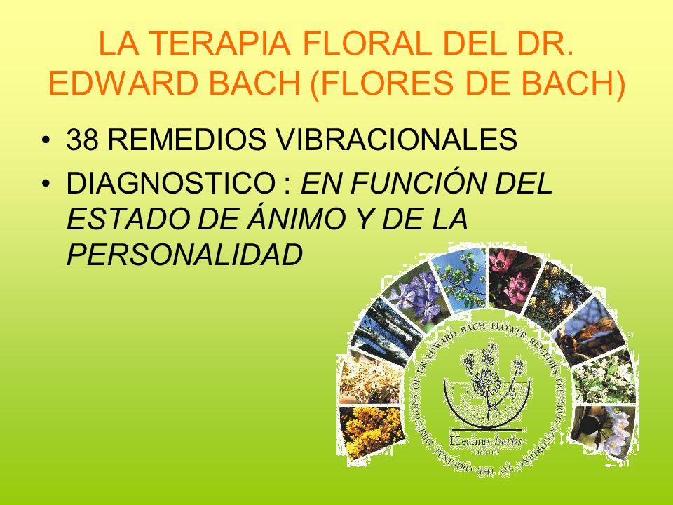 LA TERAPIA FLORAL DEL DR. EDWARD BACH (FLORES DE BACH)