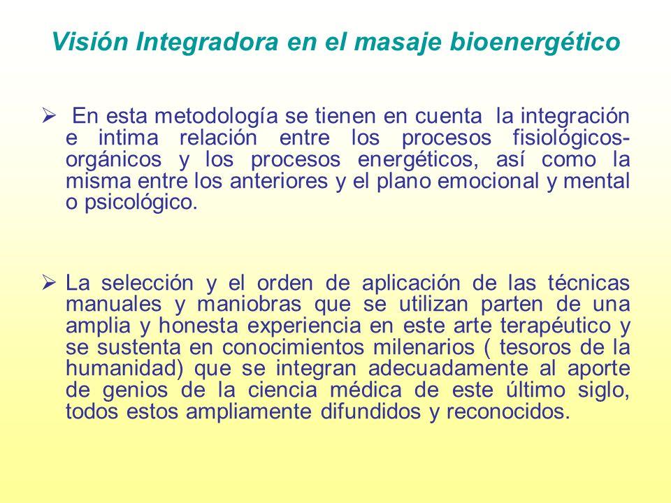 Visión Integradora en el masaje bioenergético