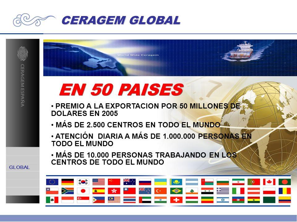 EN 50 PAISES CERAGEM GLOBAL