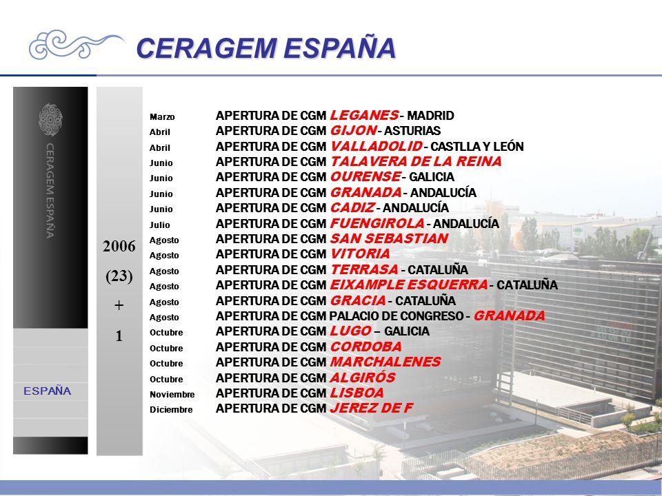 CERAGEM ESPAÑA 2006 (23) + 1 ESPAÑA