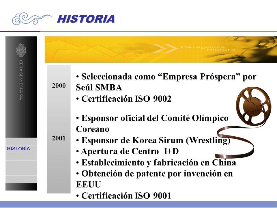 HISTORIA Seleccionada como Empresa Próspera por Seúl SMBA