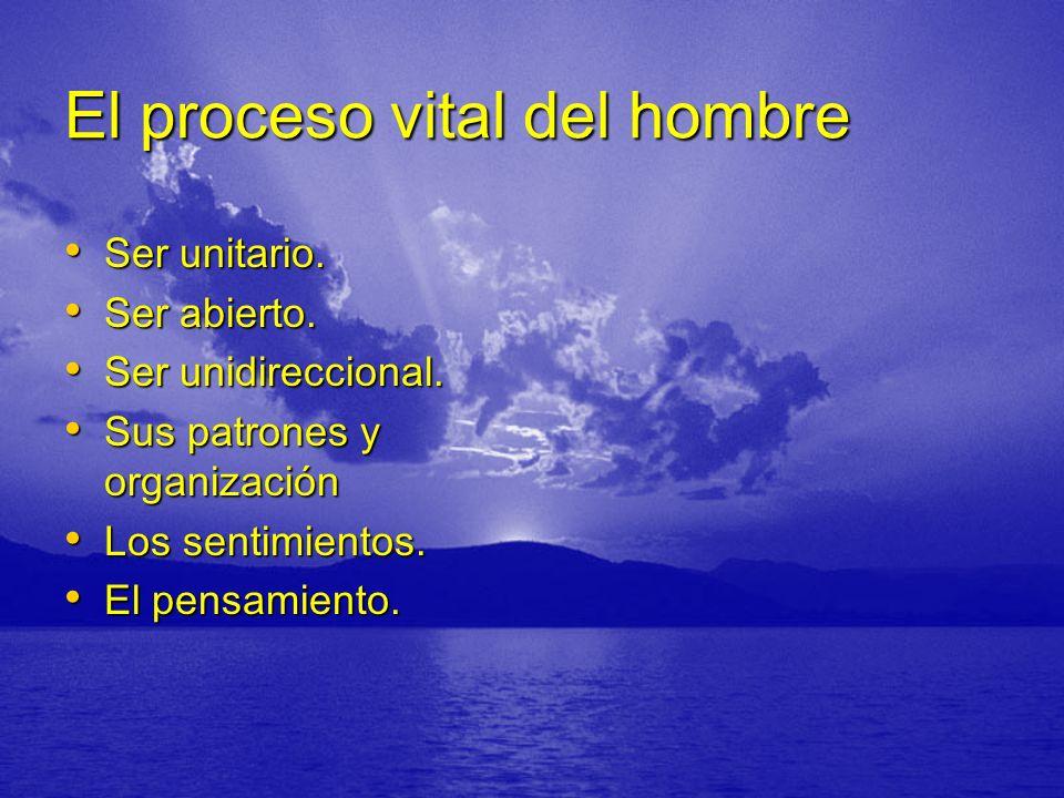 El proceso vital del hombre