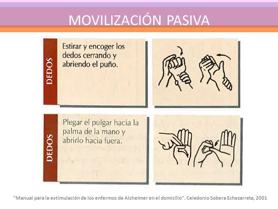MOVILIZACIÓN PASIVA Manual para la estimulación de los enfermos de Alzheimer en el domicilio .