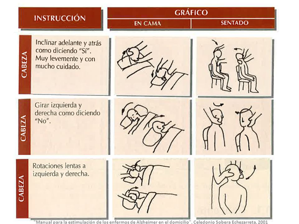 Manual para la estimulación de los enfermos de Alzheimer en el domicilio .