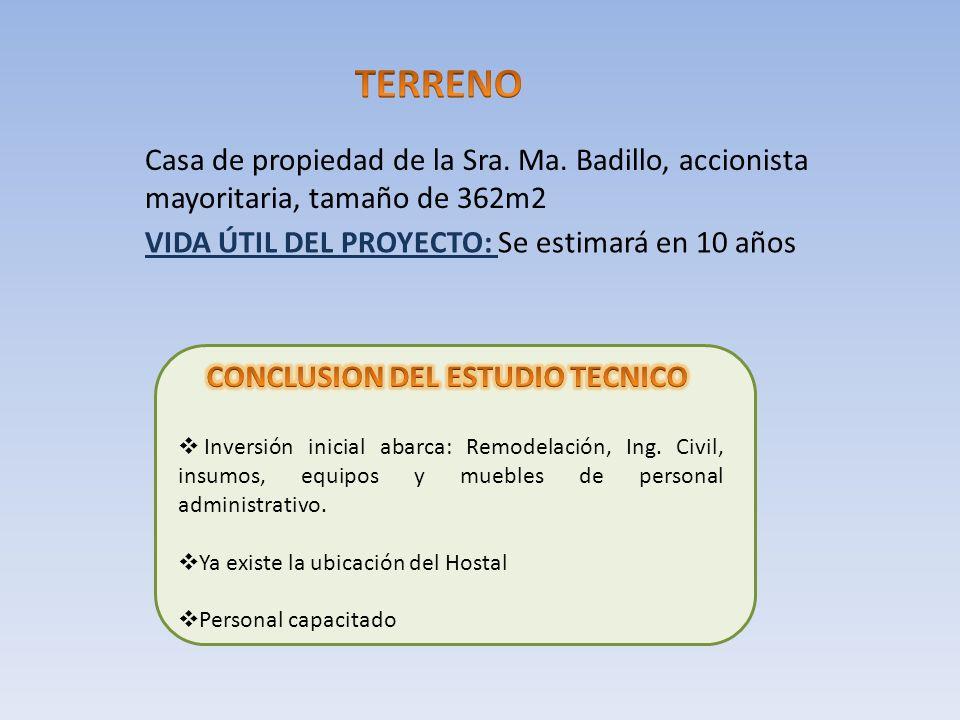 CONCLUSION DEL ESTUDIO TECNICO