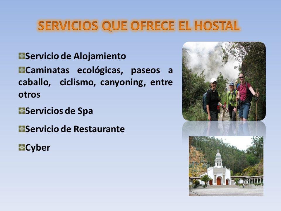 SERVICIOS QUE OFRECE EL HOSTAL