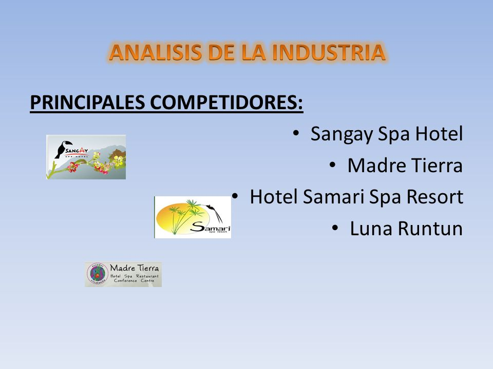 ANALISIS DE LA INDUSTRIA