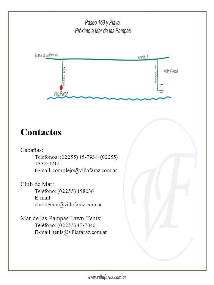 Contactos Cabañas: Club de Mar: Mar de las Pampas Lawn Tenis: