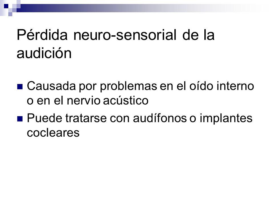 Pérdida neuro-sensorial de la audición