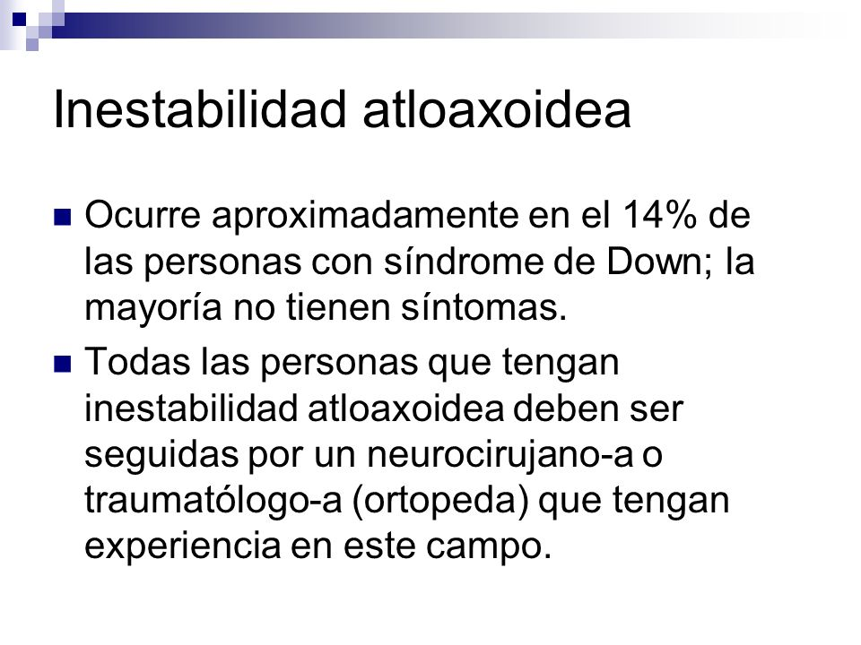 Inestabilidad atloaxoidea