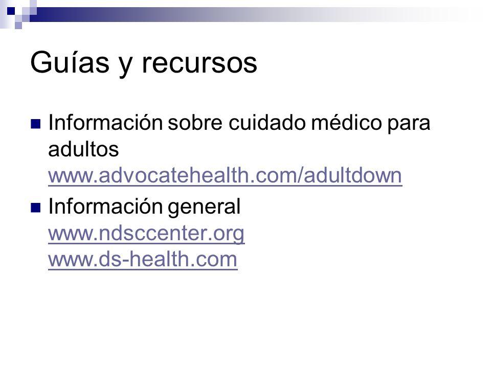 Guías y recursos Información sobre cuidado médico para adultos www.advocatehealth.com/adultdown.