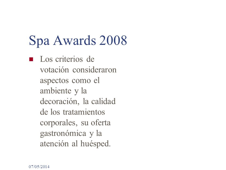 Spa Awards 2008