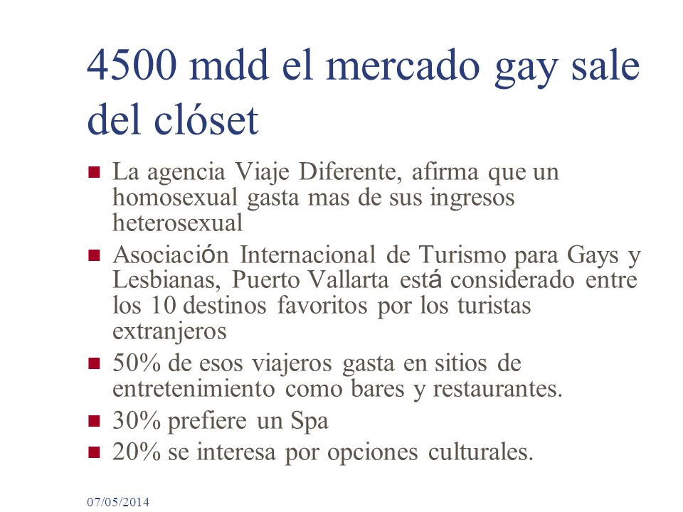 4500 mdd el mercado gay sale del clóset