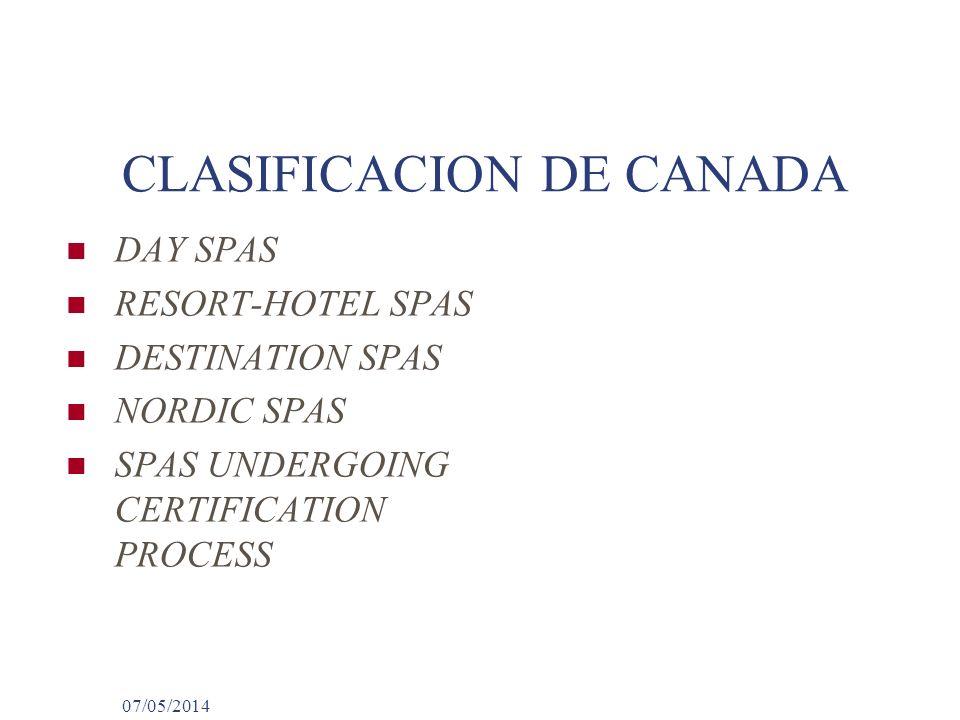 CLASIFICACION DE CANADA