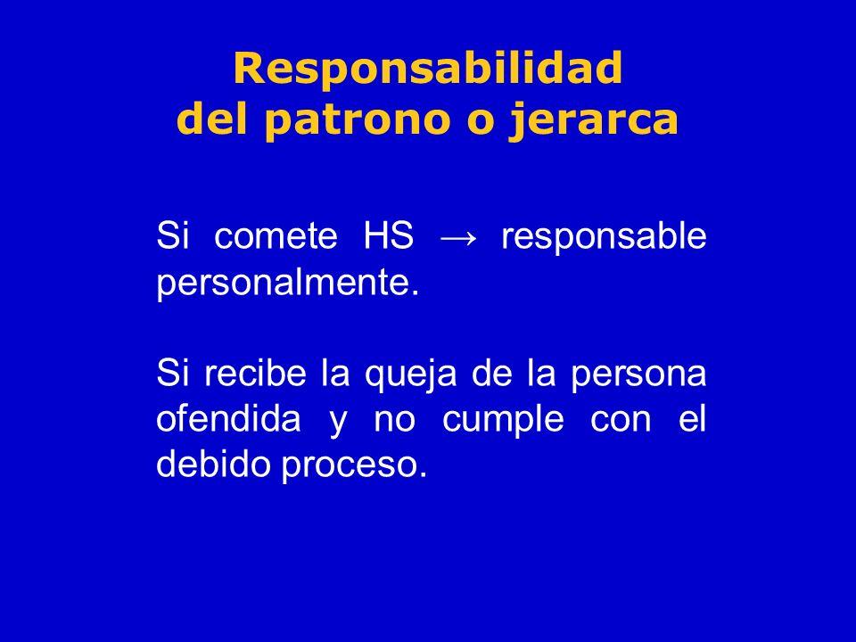 Responsabilidad del patrono o jerarca