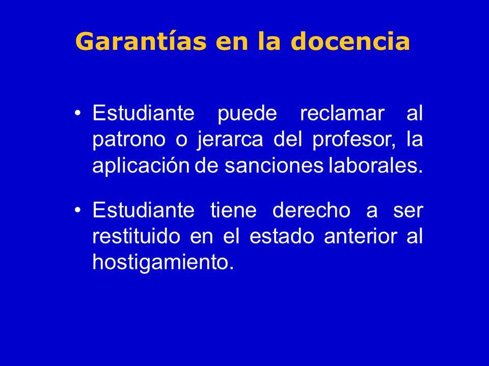 Garantías en la docencia