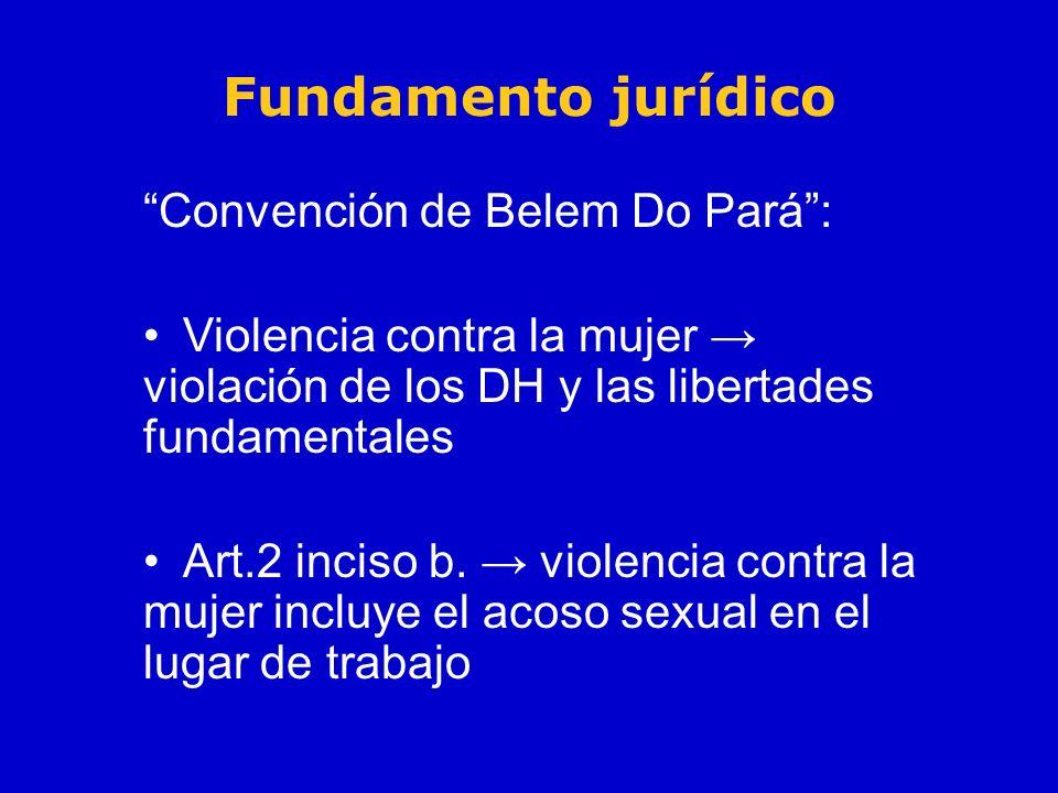 Fundamento jurídico Convención de Belem Do Pará :