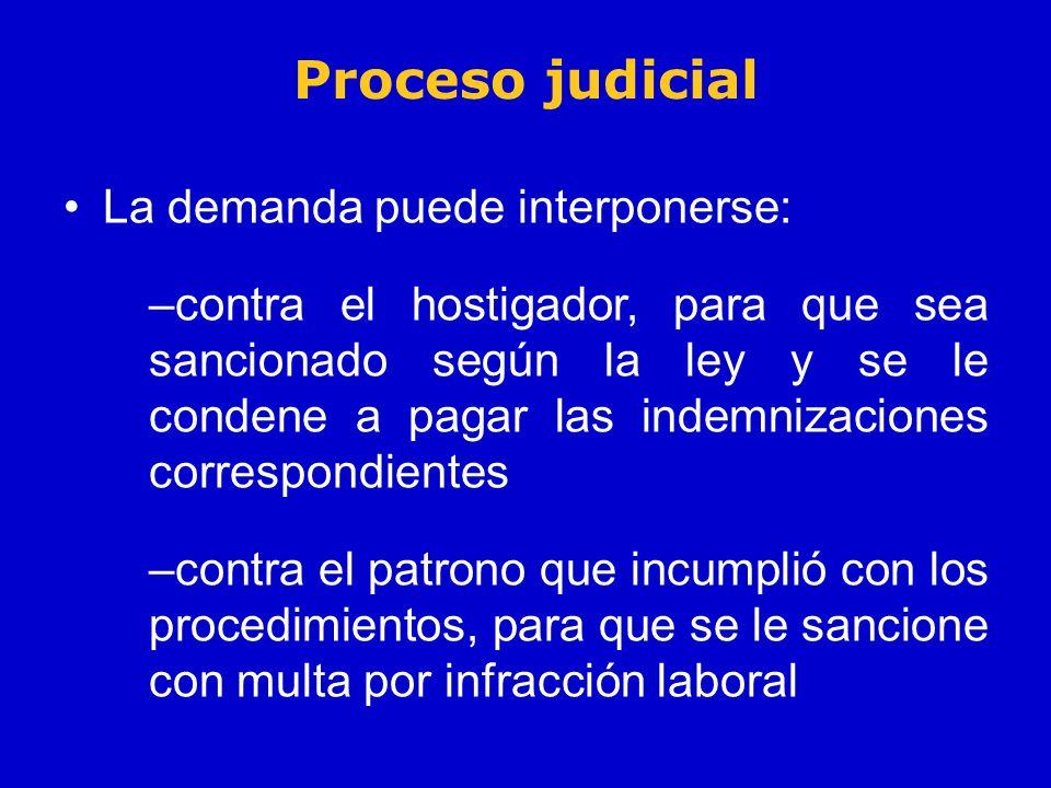 Proceso judicial La demanda puede interponerse: