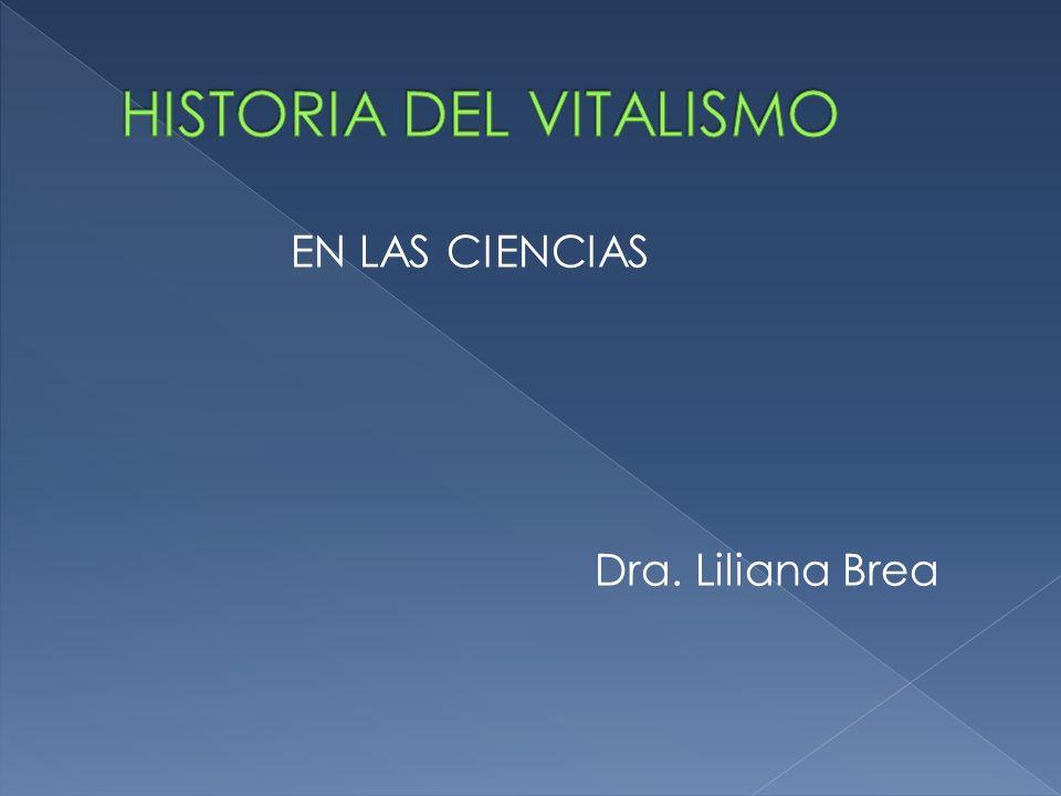 HISTORIA DEL VITALISMO
