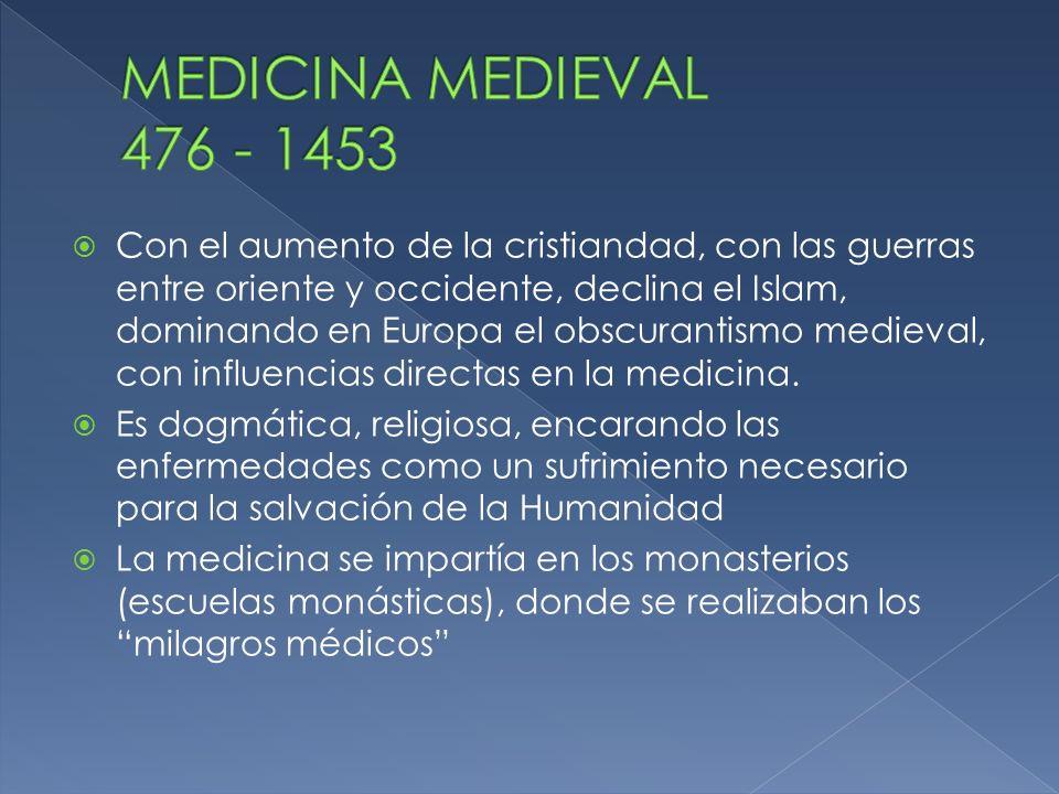 MEDICINA MEDIEVAL 476 - 1453