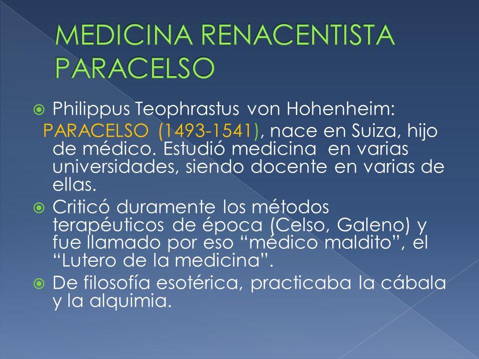MEDICINA RENACENTISTA PARACELSO