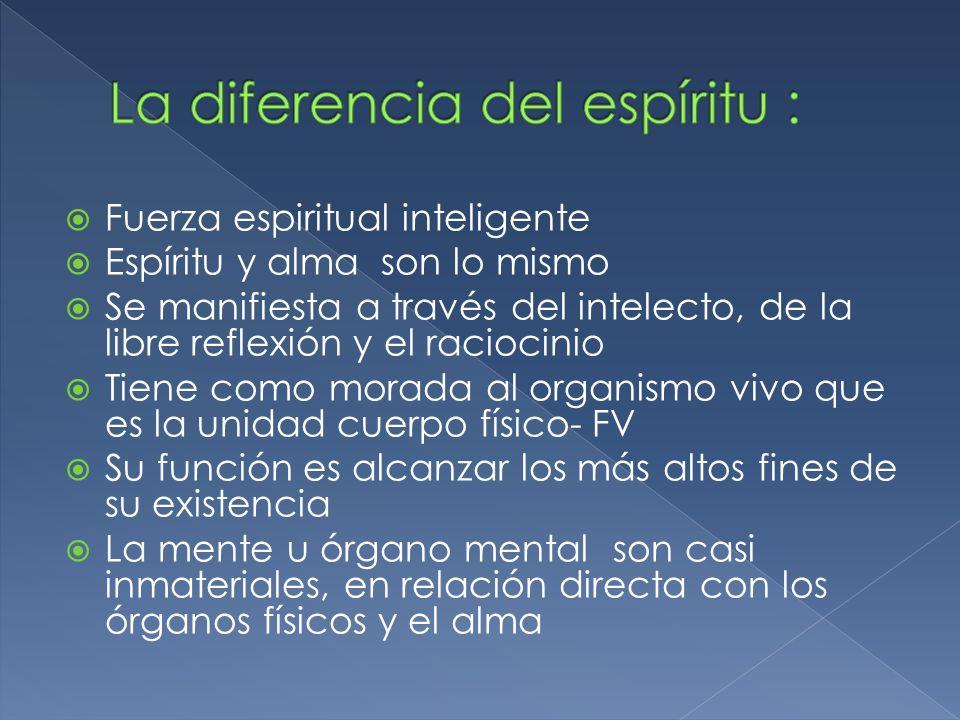 La diferencia del espíritu :