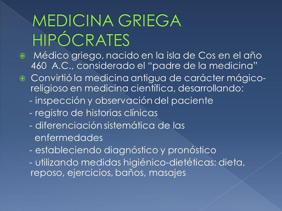 MEDICINA GRIEGA HIPÓCRATES