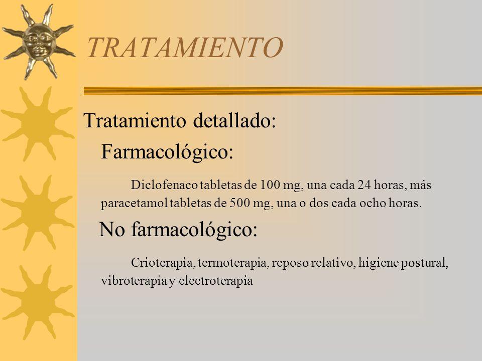 TRATAMIENTO Tratamiento detallado: Farmacológico: