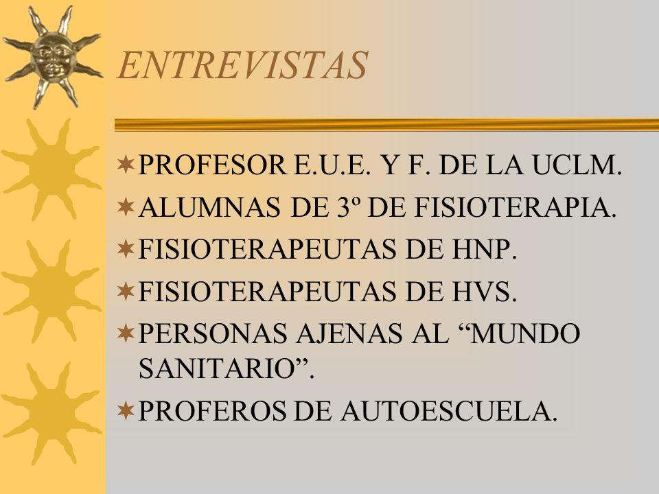 ENTREVISTAS PROFESOR E.U.E. Y F. DE LA UCLM.