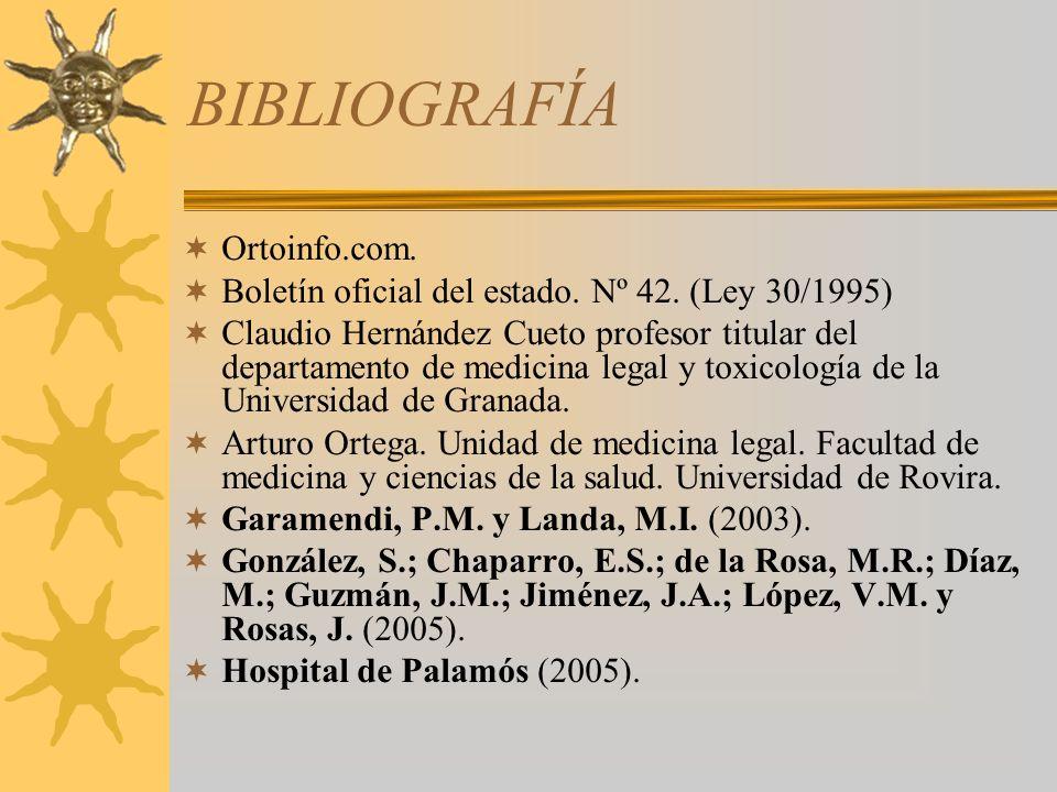 BIBLIOGRAFÍA Ortoinfo.com.