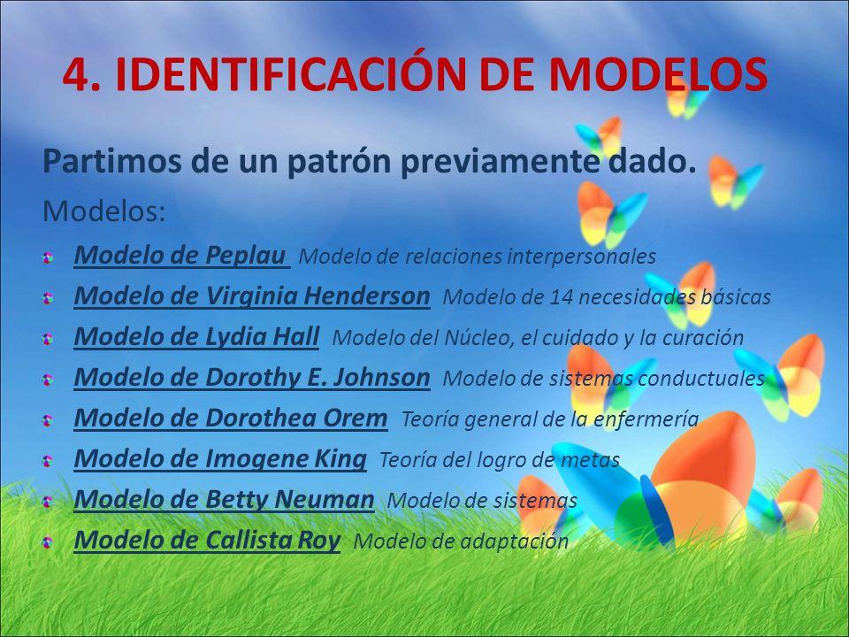 4. IDENTIFICACIÓN DE MODELOS