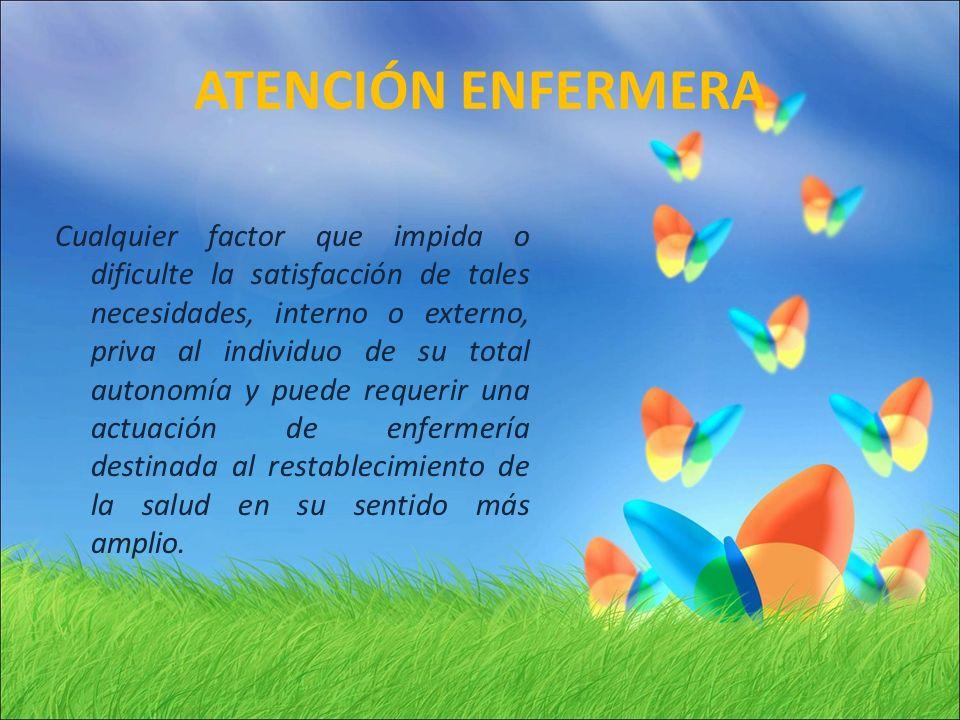 ATENCIÓN ENFERMERA