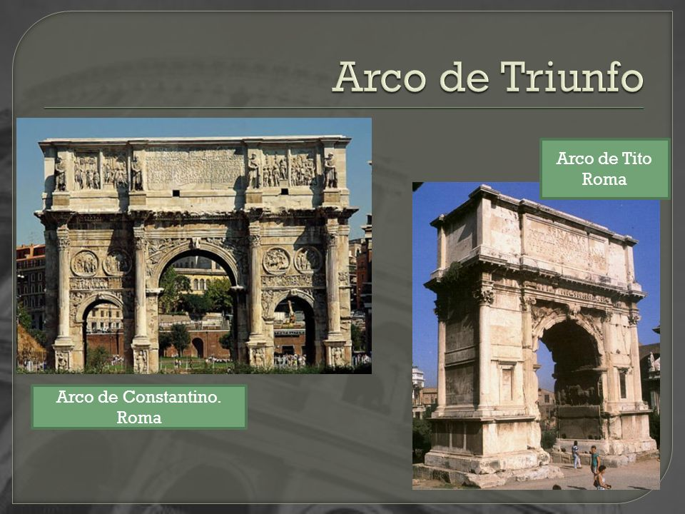 Arco de Triunfo Arco de Tito Roma Arco de Constantino. Roma
