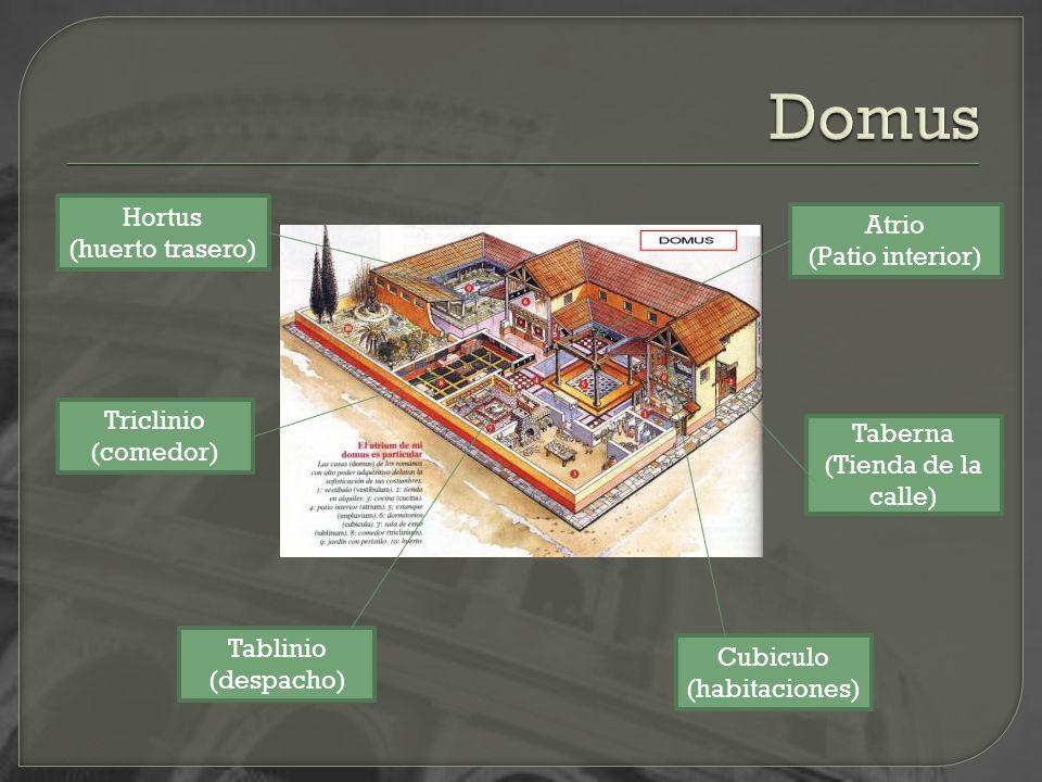 Domus Hortus Atrio (huerto trasero) (Patio interior) Triclinio