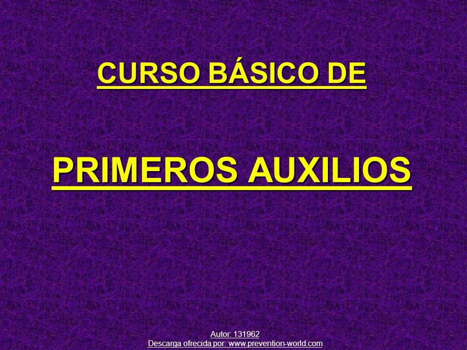 CURSO BÁSICO DE PRIMEROS AUXILIOS