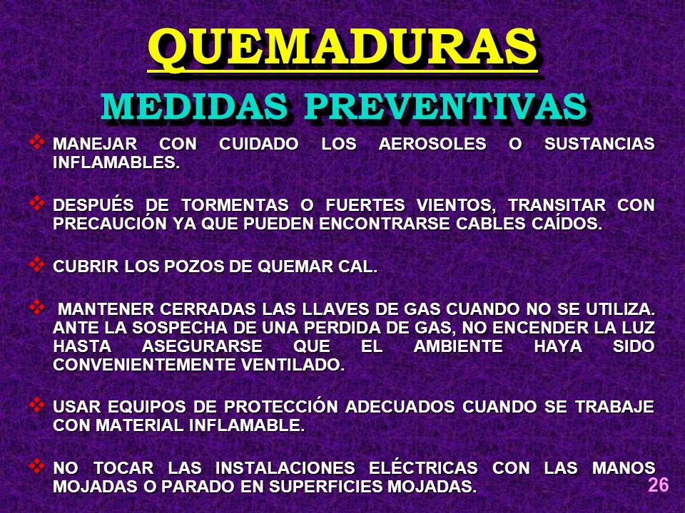 QUEMADURAS MEDIDAS PREVENTIVAS 26