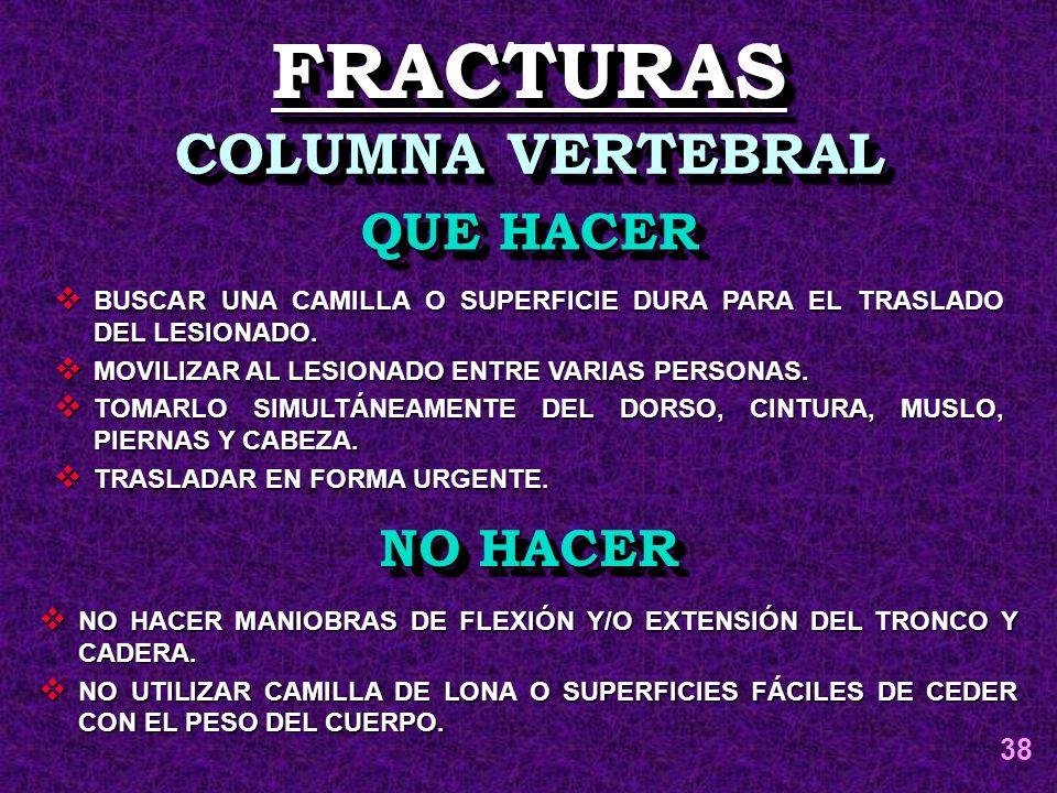 FRACTURAS COLUMNA VERTEBRAL QUE HACER NO HACER 38