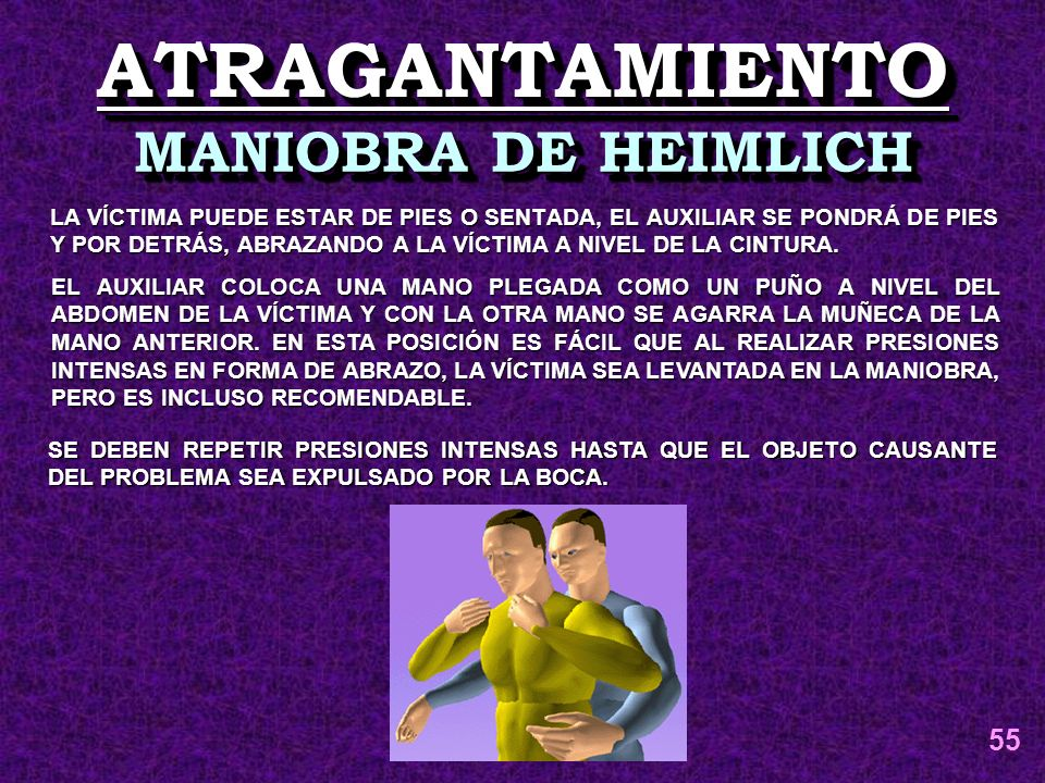 ATRAGANTAMIENTO MANIOBRA DE HEIMLICH 55