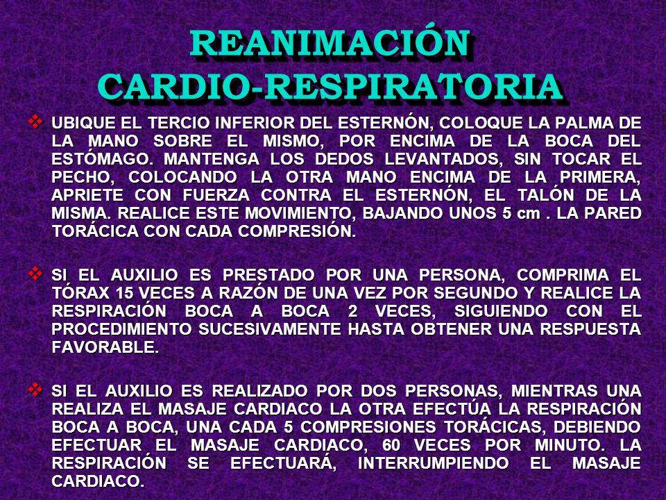 REANIMACIÓN CARDIO-RESPIRATORIA