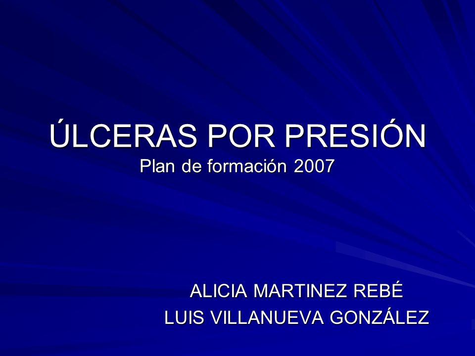 ÚLCERAS POR PRESIÓN Plan de formación 2007